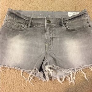 All Saints Spitalfields grey jean shorts 30